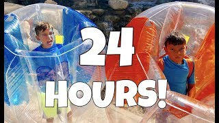 24 HOURS OVERNIGHT IN BUBBLE BALLS!
