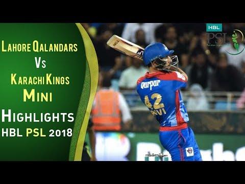 Short Highlights   Karachi Kings Vs Lahore Qalandars    Match 8   26 February   HBL PSL 2018   PSL