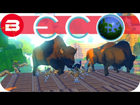 ECO Gameplay - SHOOTING BISON IN A BARREL #3 - Let's Play ECO Game Gangz Multiplayer Server