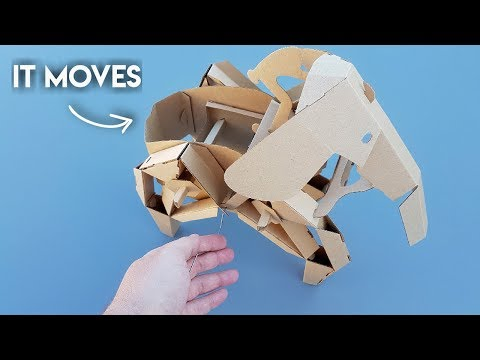 How To Make DIY Cardboard Elephant THAT MOVES