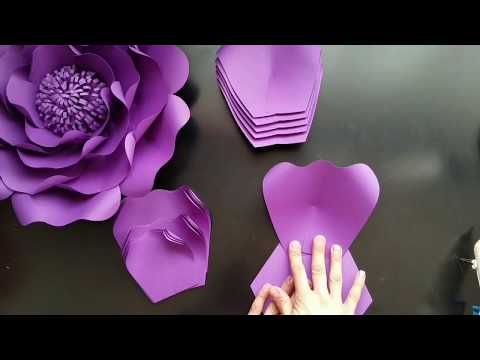 diy paper flowers, Template 21 medium flower