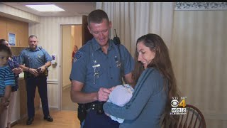 Mass. State Trooper Meets Newborn Baby After Helping Rush Mom To Hospital