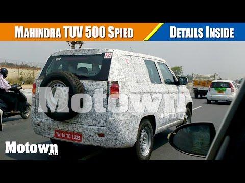 Mahindra TUV 500 | Spied |