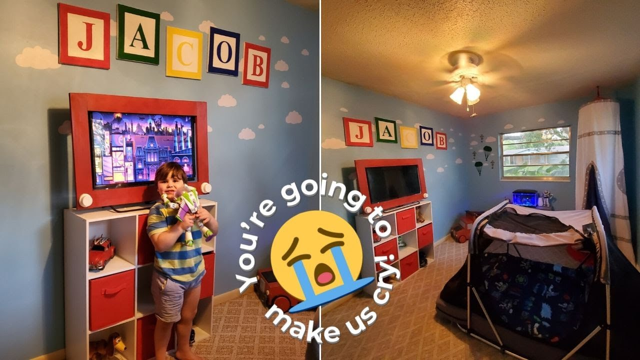 Boy With Autism Surprised At Toy Story Bedroom Transformation Youtube
