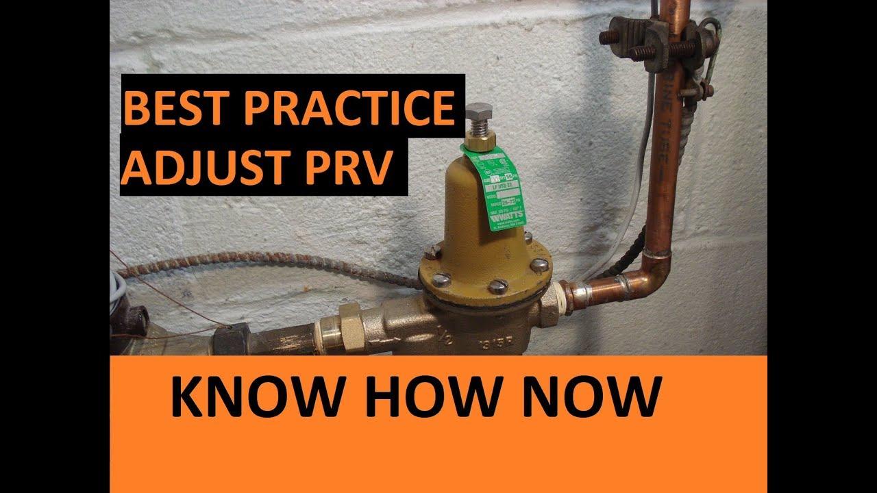How To Adjust A Water Pressure Regulator Valve Youtube