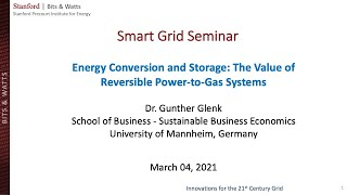 Energy Conversion and Storage: Role of Reversible Power-to-Gas I Gunther Glenk I Smart Grid Seminar
