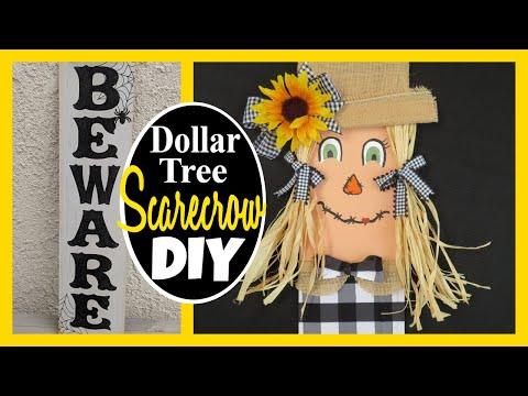 NEW Dollar Tree SCARECROW DIY!