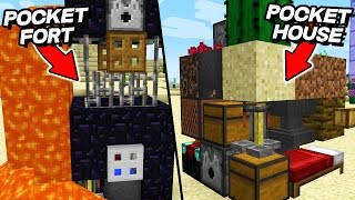 3 INCREDIBLY Small Minecraft Houses (Pocket Minecraft Houses)