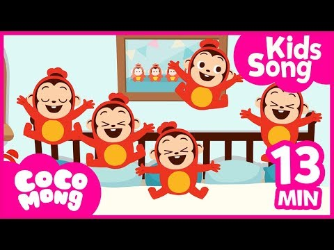 five-little-monkeys-and-more│-english-compilation-│-nursery-rhymes-for-children-│-cocomong-kids-song