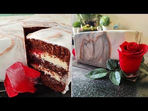 gâteau-marbré-chocolat-blanc-passion-👌🏻-recette-facile-et-décoration.