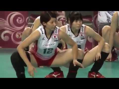女子バレー ストレッチ くっきり… women athlete ▶3:33