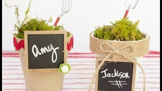 Easy Flowerpot Place Card Holders & Party Favors #craftsunder10hoa