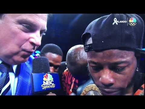 Rau'shee Warren Post fight interview 6-18-16