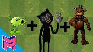 Plants vs Zombies Fusion Hack Animation ( Peashooter + Cartoon Cat Freddy Fazbear)