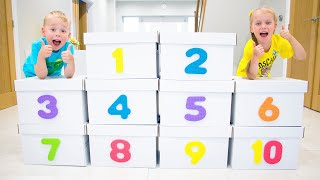 Learning counting numbers 1 to 10 for kids with Gaby and Alex