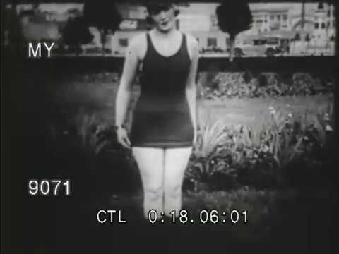 5d5439f632 1920s Bathing Suits - YouTube