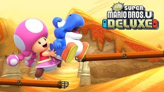 New Super Mario Bros U Deluxe - Walkthrough Part 9 - Layer Cake Desert 3 - Fire Snake Cavern