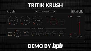 Tritik Krush DEMO (Free Bitcrusher VST/AU Plugin)