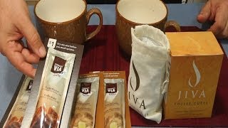 Starbucks Latte & JIVA coffee cubes - Food Product Review
