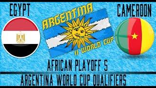Egypt vs Cameroon - Argentina WCQ Playoffs - Leg 1