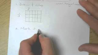 Math How to Draw Fraction Visual Models