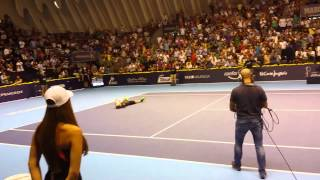 Valencia Open 2014 match point Andy Murray wins T.Robredo (4-6 7-6 7-6)