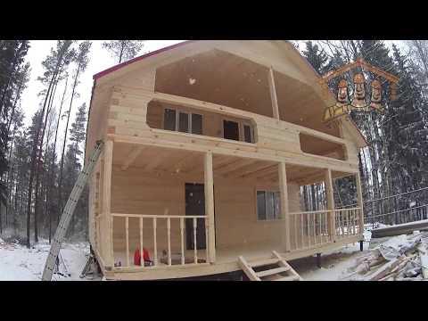 """Видеообзор дома из бруса 8х11 метров от """"Три Строителя"""""""