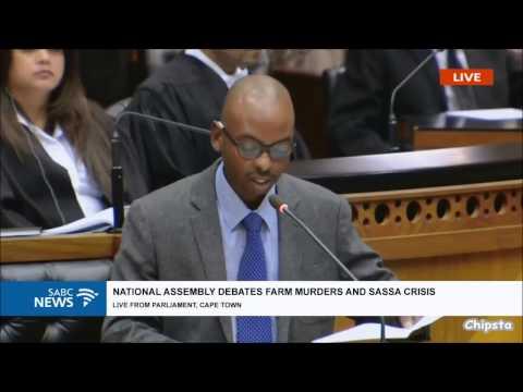 Mbhele (DA) on Farm Murders in South Africa
