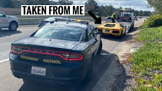 Police Pull me over and IMPOUND my Lamborghini Aventador...