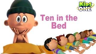Zehn im Bett | Number Titel | Cartoon-Animation Kinderreime Für Kinder - KidsOne
