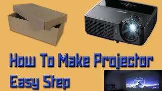 How To Make Smartphone Projector Easy Step | At Home In 4 Minutes [DIY]