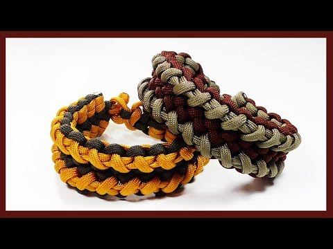 """Paracord Bracelet: How To Tie The """"Cloven Zipper"""" Without Buckle"""