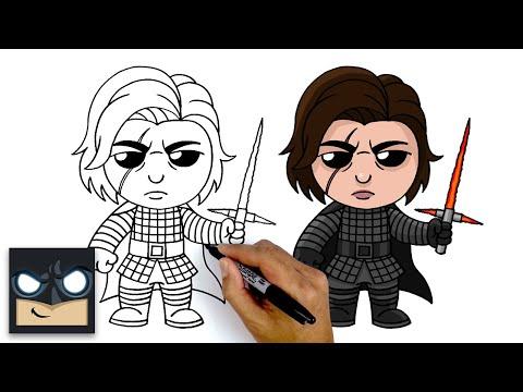 How To Draw Kylo Ren | Star Wars