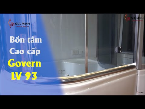Phòng tắm kính - [ĐÁNH GIÁ] Bồn tắm đứng Govern LV-93 CAO CẤP cho phòng tắm HIỆN ĐẠI