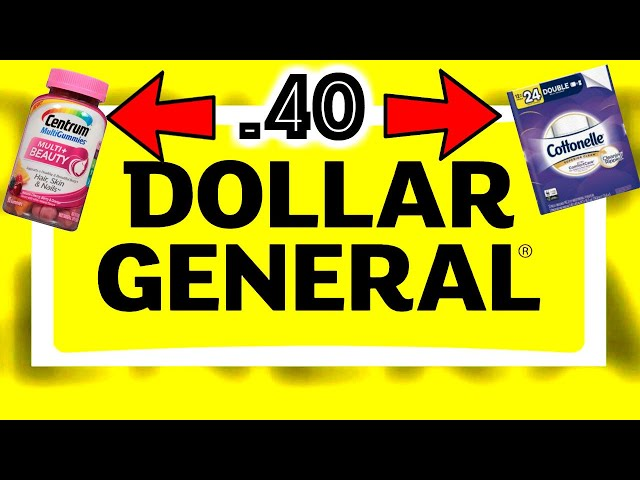 DOLLAR GENERAL .40 Cottonelle **ONLY**JAN 25th!