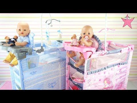 Bruno y Abril estrenan trona cuna armario y cambiador todo en uno Baby born
