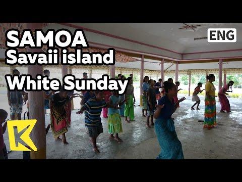 【K】Samoa Travel-Savaii island[사모아 여행-사바이섬]아이들을 위한 화이트선데이/White Sunday/Children