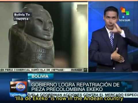 Bolivia gets pre-Columbian art piece 'Ekeko' back from Switzerland