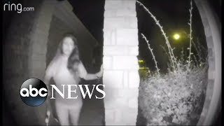 Police search for woman caught on camera ringing doorbell