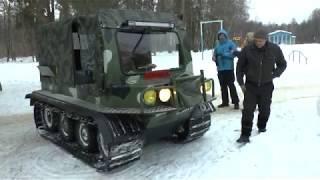 Покатушки на вездеходе  в зимнем  лагере Чайка 17 -02 -18г.
