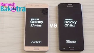 Samsung On Nxt 2017 vs J7 Prime SpeedTest Comparison