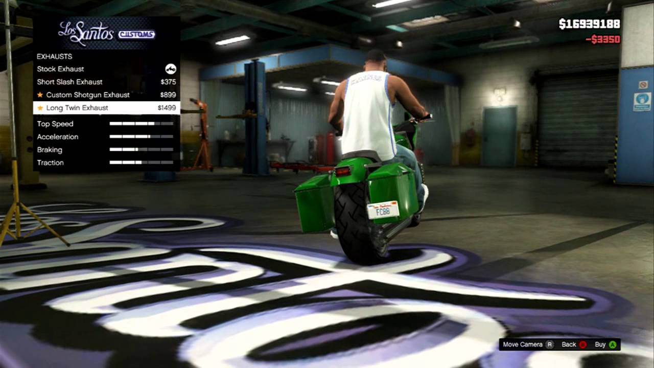 Dodge Charger Police Car >> GTA 5 - Franklin's Customized Motorcycle - YouTube