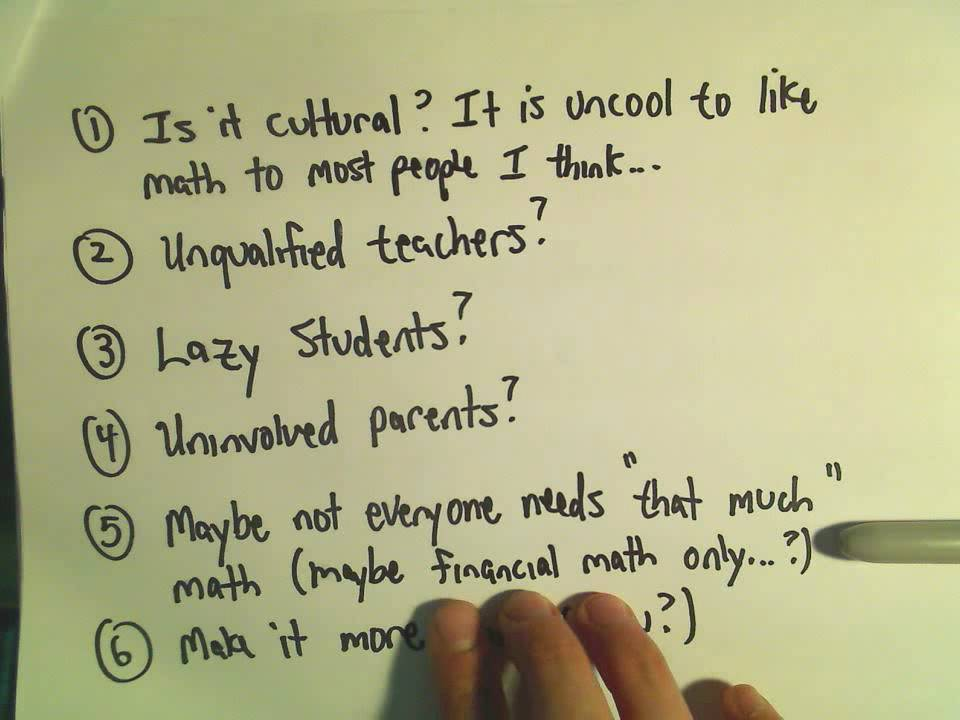 What is Wrong (and Right) with Math Education in USA? Responses ...