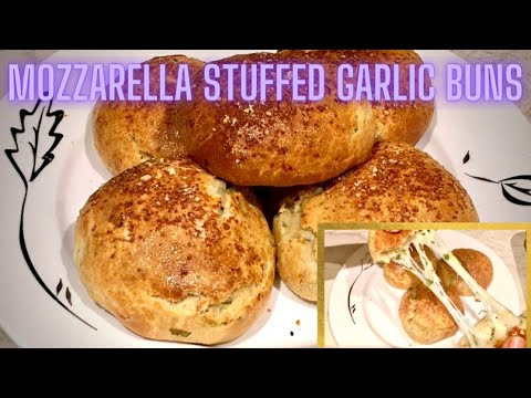Mozzarella Stuffed Garlic Buns