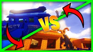 LAVA MANSION VS WATER MANSION - Minecraft Water vs Lava Challenge