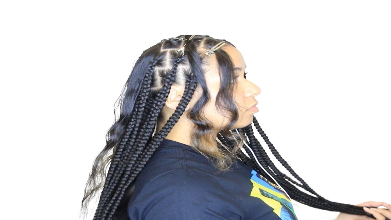 Jumbo knotless On Silky Straight Hair