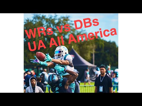 DBs Vs WRs | UA All America Practice Day 2 2020 | Life And Football