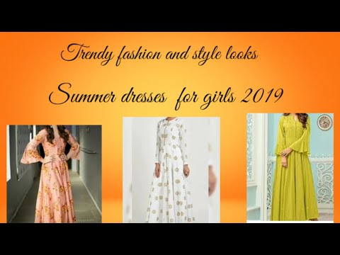 34a5093554 Latest girls dresses summer collection 2019, long shirts/maxies 2019,Indian Pakistani  summer dresse