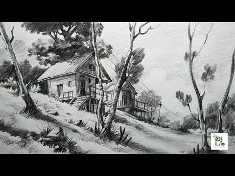 how-to-draw-basic-landscape-for-beginners-with-pencil- -very-easy-pencil-strokes