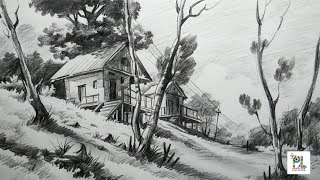 pencil landscape beginners easy draw drawings drawing basic landscapes sketches sketch shading sketching scenery simple very topbuzz cool zapisano